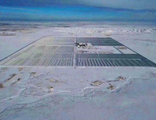 La termosolar de canal parabólico más grande de China de 100 MW conectada a la red